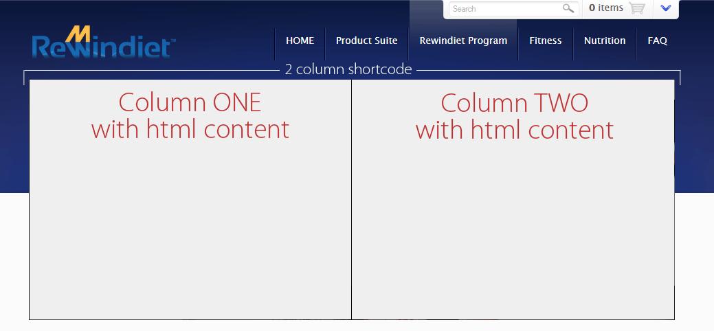 2 column - extended header example